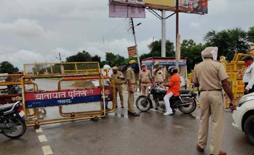 भूमि पूजन को लेकर अयोध्या में सुरक्षा के कड़े इंतजाम,रेड जोन घोषित हुआ इलाका
