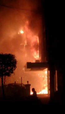 आंध्रप्रदेश के कोविड केयर होटल में लगी आग, 7 लोगों की मौत,राहत व बचाव कार्य जारी