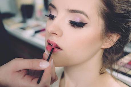 Makeup on dry skin